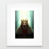 fili Framed Art Prints featuring King Fili by Luirumi