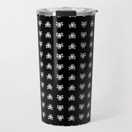 Pirate King Pattern - Black Travel Mug