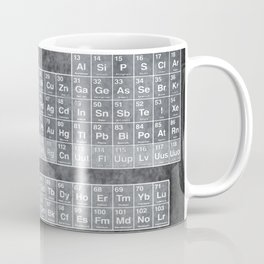 Tableau Periodiques Periodic Table Of The Elements Vintage Chart Silver Coffee Mug