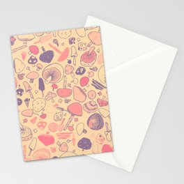 Vintage Mushroom Pattern Stationery Cards