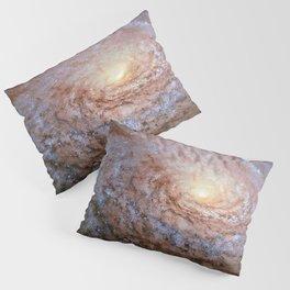 Galaxy Messier 63 Deep Field Telescopic Photograph Pillow Sham