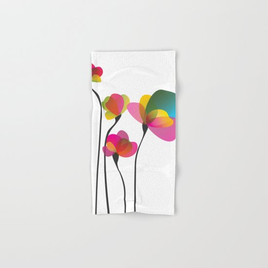 Abstract Flowers Hand & Bath Towel