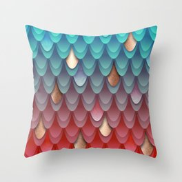Scales of Magical Fish Throw Pillow
