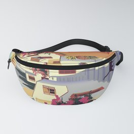 Athens Greece Vintage Travel Poster Commercial Air Travel Poster Fanny Pack