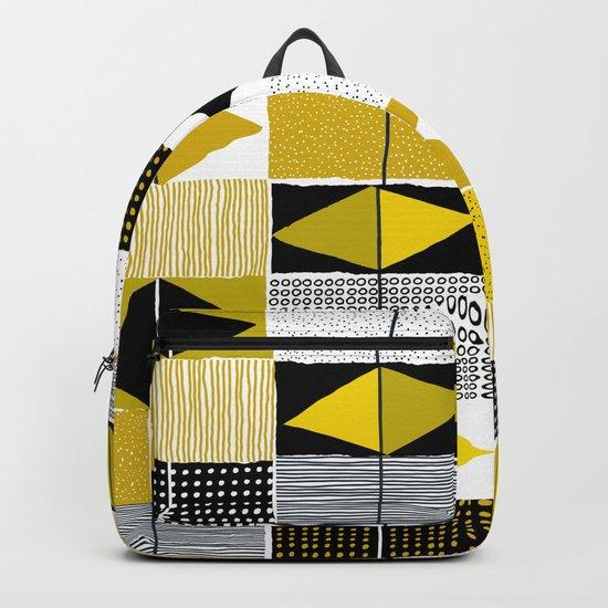 diamond pattern 034 Backpack