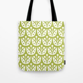 Mid Century Flower Pattern 5 Tote Bag