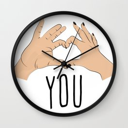 I love you fingers sign Wall Clock