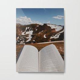 Book Break Metal Print