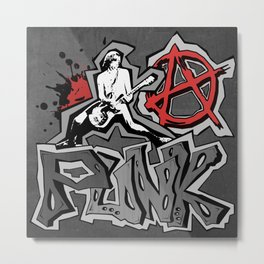 Punk Metal Print