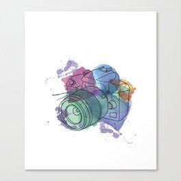 Camera Capturing Light Canvas Print