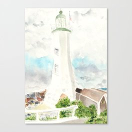 Morning at Scituate Lighthouse Canvas Print