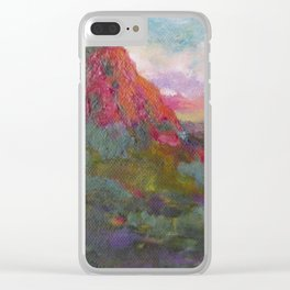 Thumb Butte at Sunset Clear iPhone Case