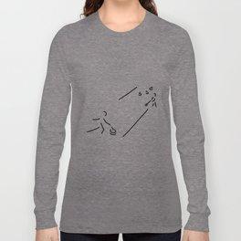 curling curling winter sports Long Sleeve T-shirt