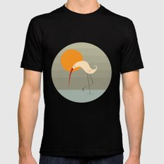 Bird and Sun MEDIUM Black Mens Fitted Tee