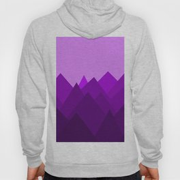 Abstract Purple Alien Landscape Hoody