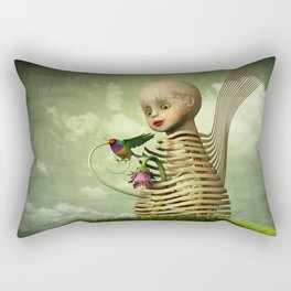 The Open Cage Rectangular Pillow