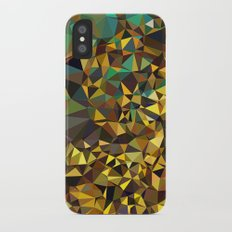 Goldish triangulated abstraction Slim Case iPhone X
