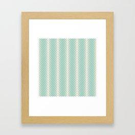 Palm Symmetry - Teal Framed Art Print