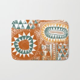 Tribal Bohemian Mosaic Bath Mat