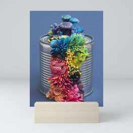 Rainbow Growth, Nature, Mushrooms, Corals on Tin Can Mini Art Print