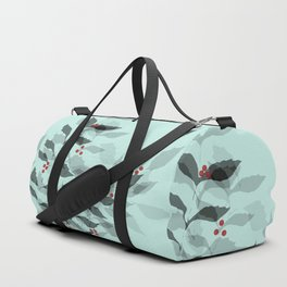 Leaves with Christmas Berries Duffle Bag