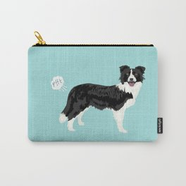 Border Collie dog breed funny dog fart Carry-All Pouch