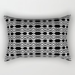 Arrows and Diamond Black and White Pattern 2 Rectangular Pillow