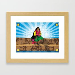 Paisana in Titicaca Lake, Puno, Perú Framed Art Print