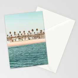 Vintage Newport Beach Print {1 of 4} | Photography Ocean Palm Trees Teal Tropical Summer Sky Stationery Cards