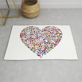 Heart flags countries Rug