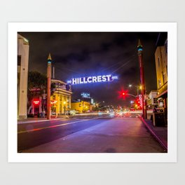 Hillcrest (San Diego) Sign - SD Signs Series #3 Art Print