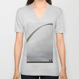 Gateway Arch and people Unisex V-Neck
