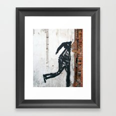 People Disappear, Right Before Our Eyes, Like Old Bricks In a Wall Framed Art Print