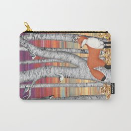 nuthatches and fox in the birch forest Carry-All Pouch