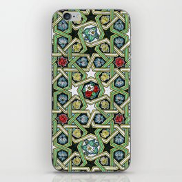 8-fold Rosettes with Flowers iPhone Skin