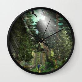 Forest Wisdom Wall Clock