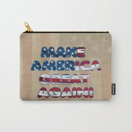 USA Flag MAKE AMERICA GREAT AGAIN typography Carry-All Pouch