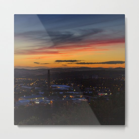 City of Dundee Sunset Metal Print