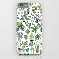 plants and pots pattern iPhone 6 Slim Case