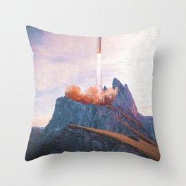 Space X Mountain Throw Pillow