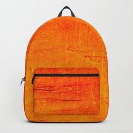 Orange Sunset Textured Acrylic Painting Backpack