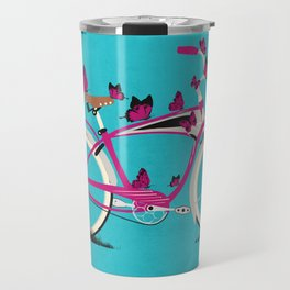 Butterfly Bicycle Travel Mug