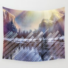 Winter Sun Rays Abstract Nature Wall Tapestry