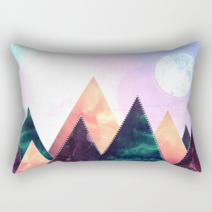 Sunrise of the moon Rectangular Pillow