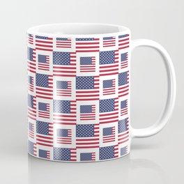 flag of the usa -with square Coffee Mug