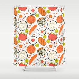 Japanese sushi lovely pattern Shower Curtain
