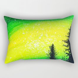 Couple camping in fantasy sky Rectangular Pillow