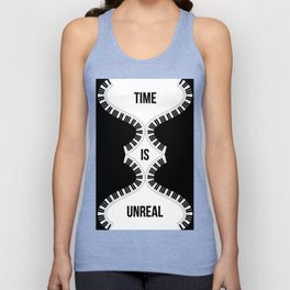 Time Is Unreal Modern Abstract Unisex Tank Top
