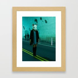 Polygon Pig Framed Art Print