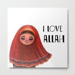 I LOVE ALLAH Metal Print